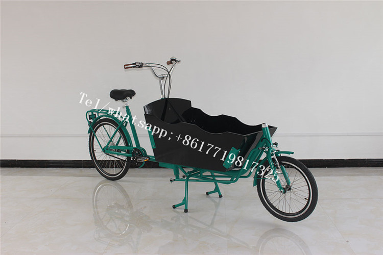 T05D Electric Cargo Bike Long With Wooden Box Front Loading Electric Two Wheel Cargo Bike For Euro Market