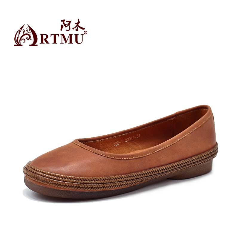 Artmu 2018  Women Shoes Loafers Flats Casual Ladies Shoes Handmade Genuine Leather Shoes sapatos femininos Shoes Soft Comfort cyabmoz 2017 flats new arrival brand casual shoes men genuine leather loafers shoes comfortable handmade moccasins shoes oxfords