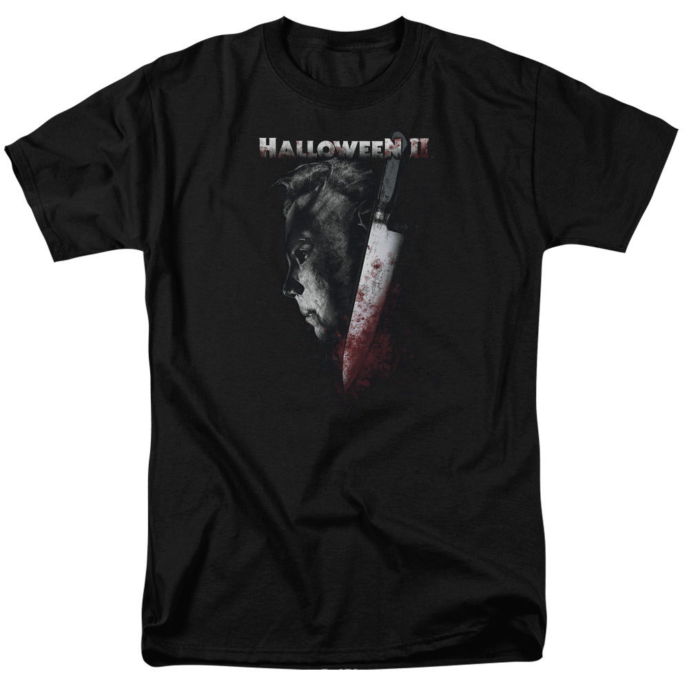 Halloween II Michael Myers Mask Bloody Knife COLD GAZE T-Shirt All Sizes T shirt Tops Summer Cool Funny T-Shirt