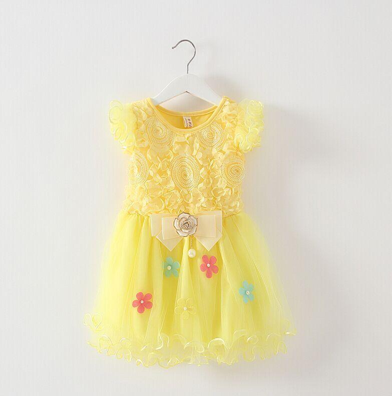 d7eb7f41b 1 2 3 year old female baby girls dress summer short sleeved dress ...