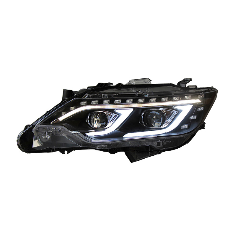 For Toyota Camry 2015 2016 Car Headlight LED DRL+High Beam Light+Reverse Light External Lights Head lights Assembly Auto Lamp car styling tail lights for toyota highlander 2015 led tail lamp rear trunk lamp cover drl signal brake reverse