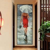 Abstract Hand Painted Oil Painting Knife Canvas Painting Landscape Figure Painting Home Decor for Bedroom Wall Art Decorations