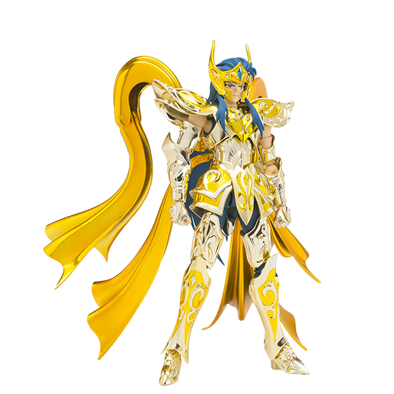 GREAT TOYS GT Model Aquarius Camus Saint Seiya EX Soul of Gold Metal Armor Gold Myth Cloth Toy Action Figure Collection saint seiya myth cloth camus metal