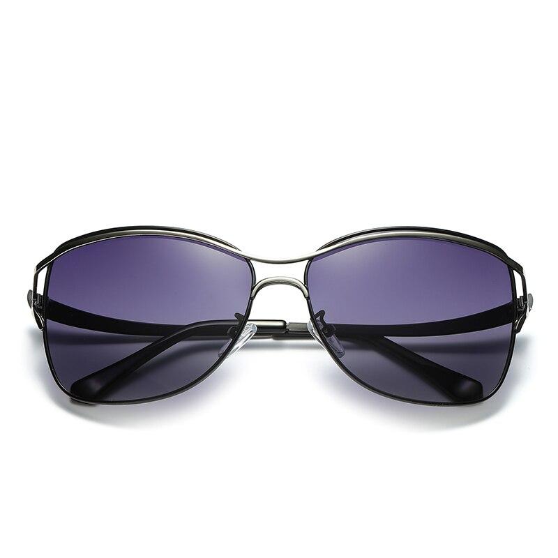 2017 HDCRAFTER Cat Eye Women Sunglasses Brand Designer Metal Frame Polarized Fashion glasses womens gafas de sol Good Quality