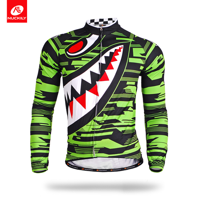 NUCKILY Cycling Jersey Men Summer Long Sleeve Bicycle Clothing Quick Dry  Cycle Wear For Cyclist MC001 cb8200350