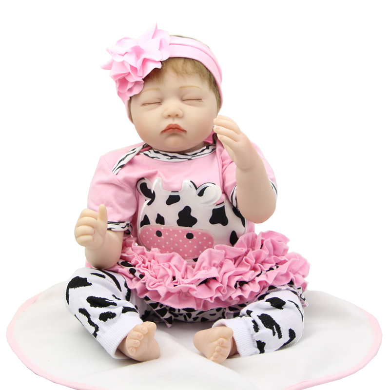 22 Inch Soft Silicone Baby Doll Reborn Realistic Newborn Girl Babies Lifelike Kids Birthday Chirstmas Gift seven til midnight комплект сексапильное неглиже и стринги