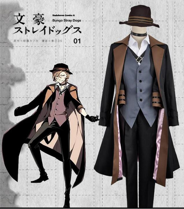 Bungou Bungo Stray Dogs Chuya Chuuya Nakahara Set Cosplay Costume Custom Made