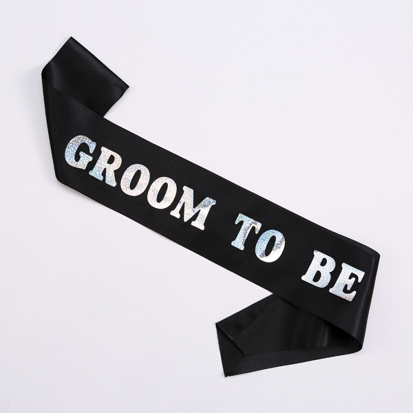 Black satin sash GROOM TO BE bride to be bachelorette Hen events supplier favor wedding accessories stag night bachelor party
