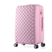 Wholesale!20 inches abs hardside case travel trolley luggage on uninversal wheels,lovely korea fashion diamond luggage for girl