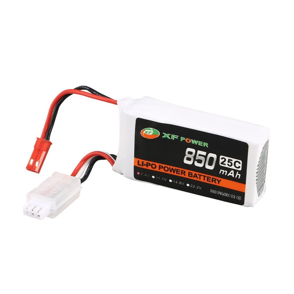 XF POWER 7.4V 850mAh 25C 2S Lipo Battery JST Plug Rechargeable For WLtoys V912 V915 RC Helicopter A949 A959 A979 Car Batteries