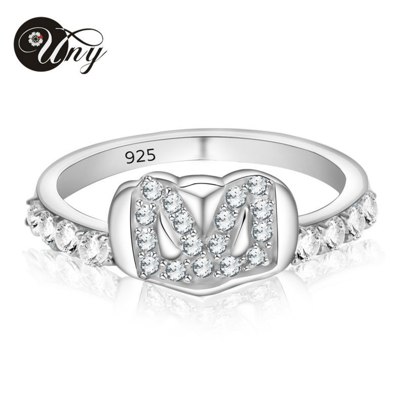 UNY Rings 925 Sterling Silver Custom Engrave Ring Family Heirloom Valentine DIY Love gift Rings Mother Promise Birthstone Ring цена 2017