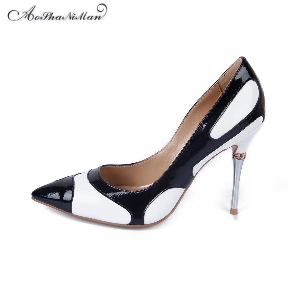 Newest spring Mixed colors heels Pointed Toe Women Pumps Fashion Party Dress Stiletto shoes Women real leather supper high heels beango 2018 new fashion women high heels pointed toe striped pumps mixed colors rivet stiletto party wedding shoes woman