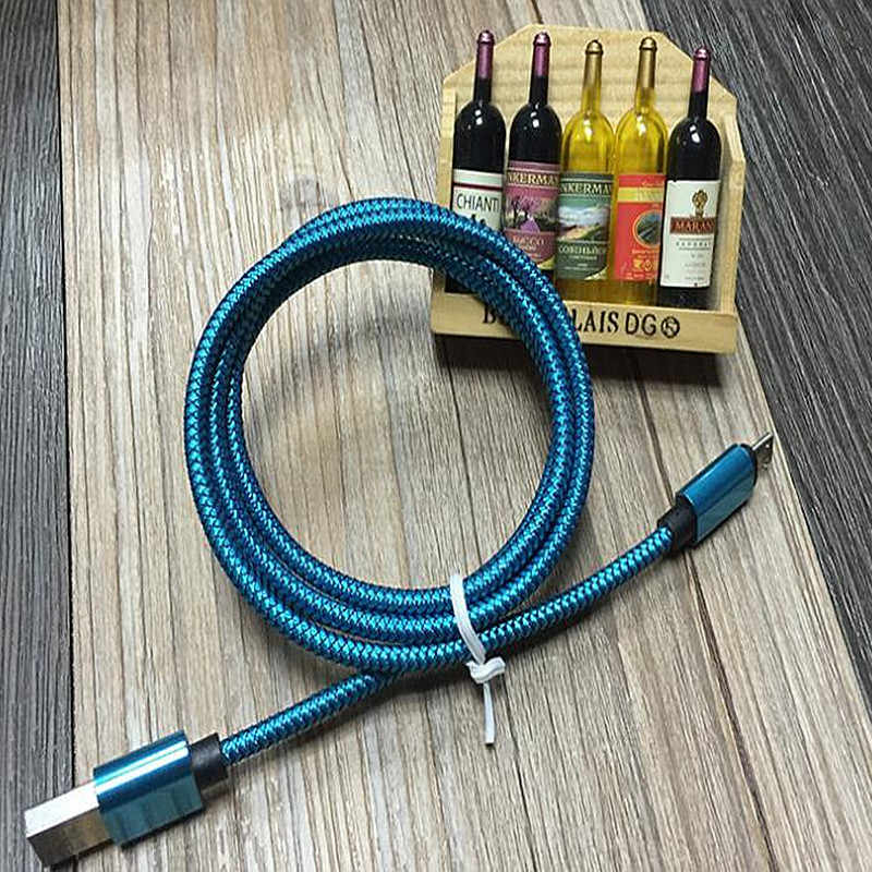 1 M 2 M Micro USB Kabel Pengisian Cepat Nilon USB Data sinkronisasi Android Ponsel Charger Kabel Adapter untuk Samsung Sony HT
