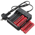 NEW AU Plug 4 Slots Intelligent Battery Charger with short circuit protection For 4X 18650 lithium-ion rechargeable battery