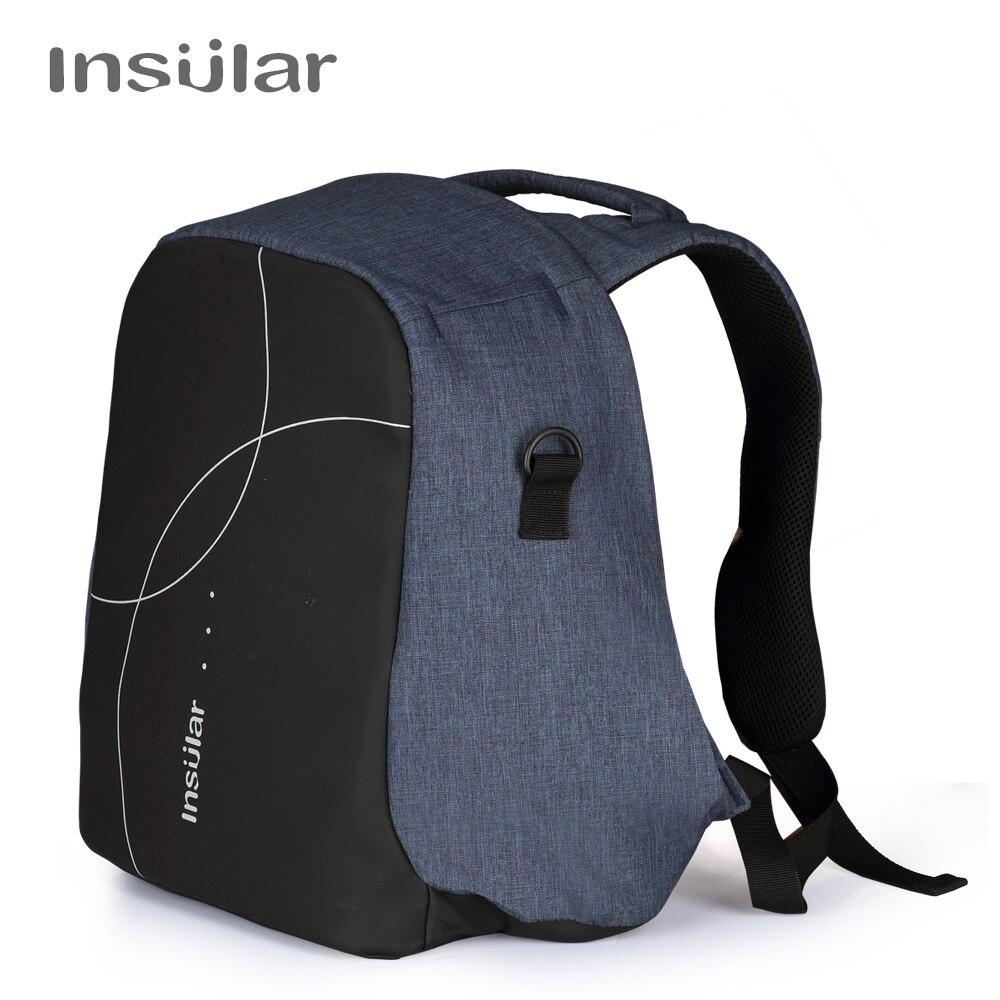 Insular Maternity Zipper Handbag Baby Diaper Changing Backpack Multifunctional Nappy Nursing Bag For Stroller