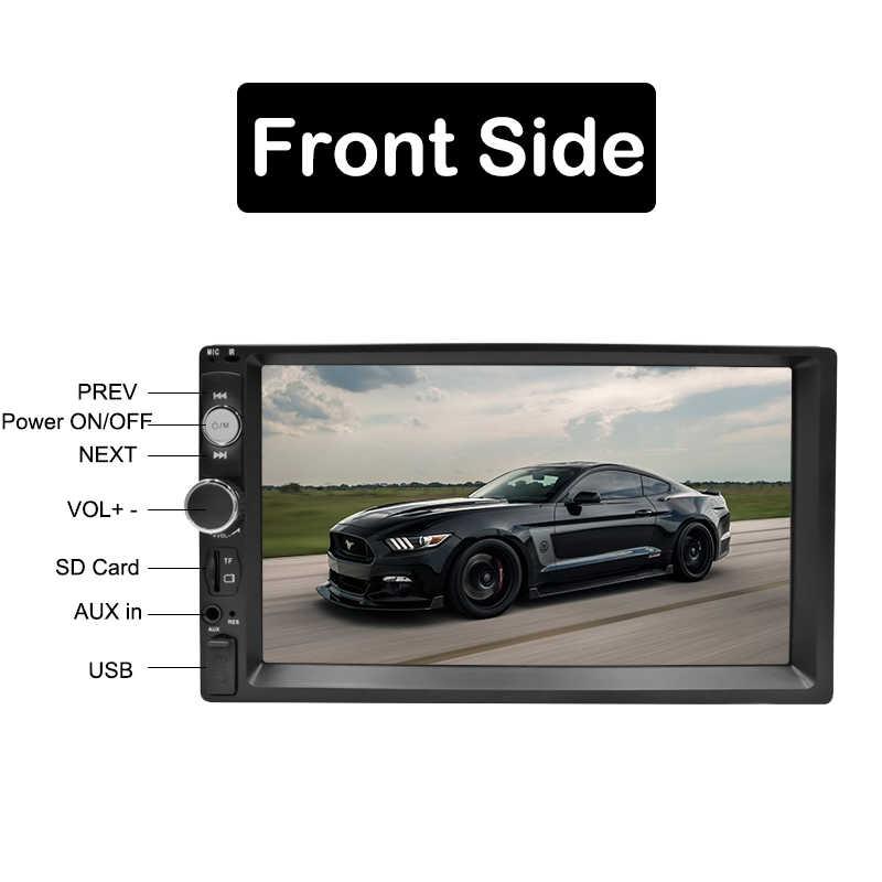 """ダブルディンカーラジオ Autoradio 7 """"HD マルチメディアプレーヤー 2 DIN タッチスクリーンの自動オーディオ、カーステレオ MP5 Bluetooth USB TF FM カメラ"""