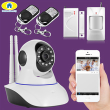 Golden Security 720P WIFI Pan/Tilt Network IP Camera APP Control Motion Detector Door/window Sensors Security Alarm system