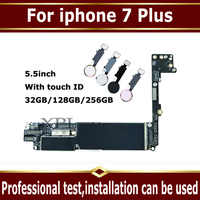 For iphone 7 Plus Motherboard with Touch ID,Original unlocked for iphone 7Plus Mainboard No iCloud,for iphone 7P Plate