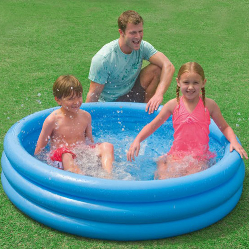 147CM New Circle Inflatable Bath Tub Cute Ocean Ball Pool Outdoor Children WATER PARK Swimming Pool Life Buoy Sea Party L1888