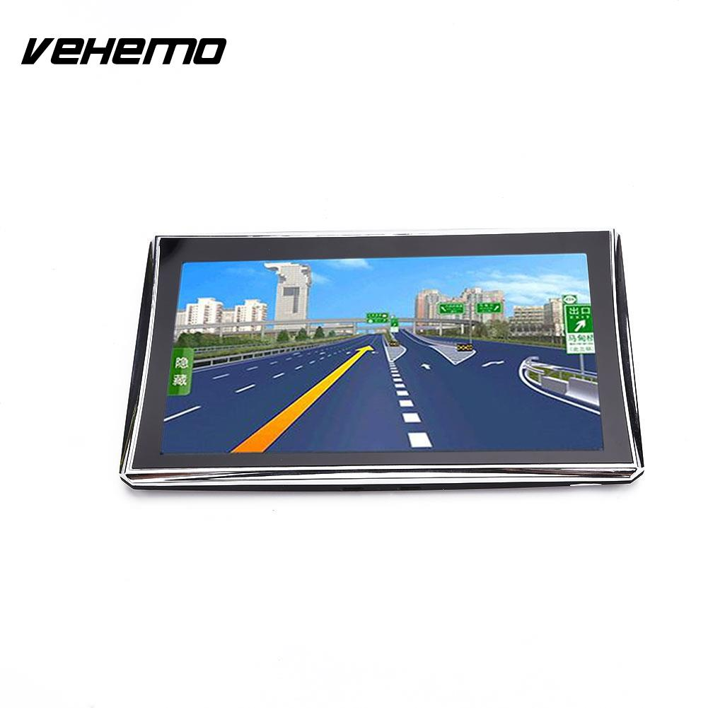 Vehemo автомобиля GPS 7 HD Сенсорный экран Бесплатная ЕС Географические карты навигатор Nav FM MP3 воспроизведения видео