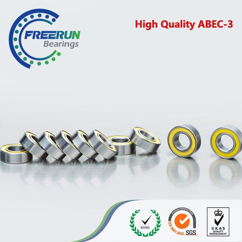 200PCS 5x10x4 Motor bearing 5x10x4mm MR105 2RS Yellow Rubber Seals bearing ABEC3 Model bearing 200PCS 5x10x4 Motor bearing 5x10x4mm MR105 2RS Yellow Rubber Seals bearing ABEC3 Model bearing