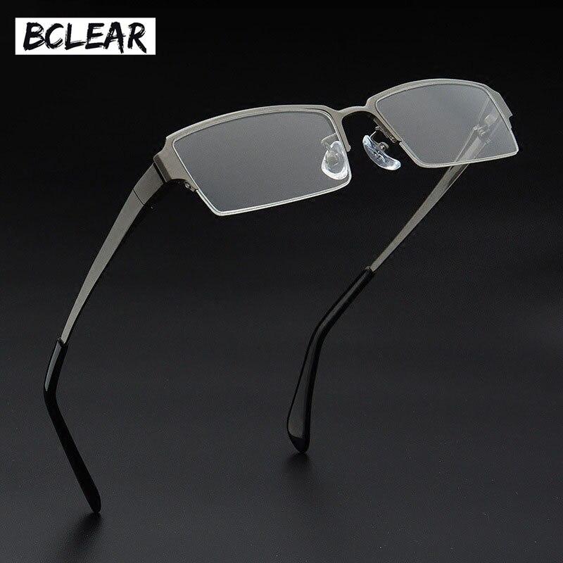 BCELAR optique titane lunettes cadre hommes rétro clair myopie Prescription lunettes carré Designer lunettes cadre hommes d'affaires