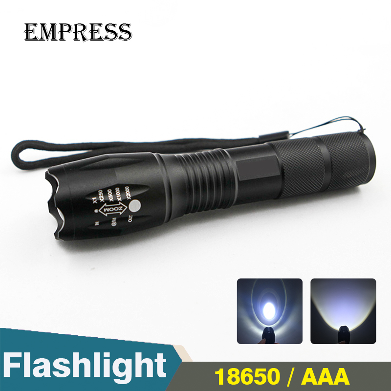 XML T6 LED Flashlight 18650 Torch Powerful Search Flash Light X900 Lamp Waterproof Tactical Military Rechargeable Battery