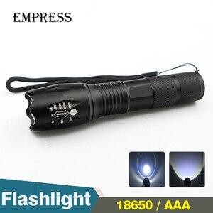 XML T6 LED Flashlight 18650 To