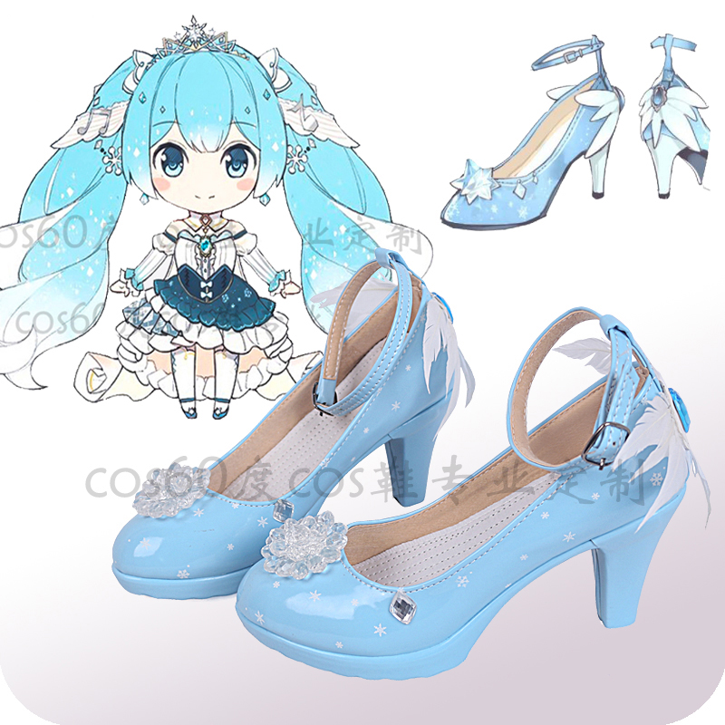 2019-font-b-hatsune-b-font-miku-princess-vocaloid-snow-cosplay-costume-shoes-kawaii-blue-new-w-feather-custom-handmade-shoes