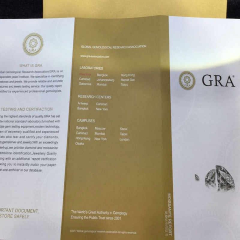 D renk Moissanite saplama küpe S925 ayar gümüş küpe 1ct karat Vvs1 netlik 4 pençe Moissanite ile GRA sertifikası