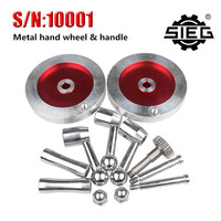 Free Shipping SIEG Lathe Accessories S N 10001 Metal Handwheel Handle Kit