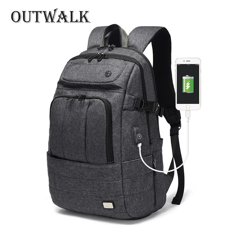 Sac à dos pour ordinateur portable 15 pouces étanche pour ordinateur portable chargeur USB Anti-vol sacs à dos pour hommes sac à dos de voyage adolescent sac à dos Mochila mâle