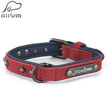 Large Small Dog Collars Leash Leather Pet Collar Adjustable Dogs for Cat Accessories Dog-Collar Products YS0077