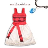 1cd3290dc 2018 Summer Children Baby Girl Birthday Party Wedding Dress Moana Cosplay  Princess Costum Kids Dress With