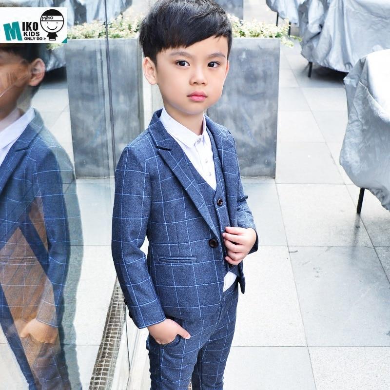 41c995f03 Boys Blazer Vest Pants kids clothes 3PCS boys clothing sets Kid Suit Boy's  Prom Sutis Flower Children Dress Suits Formal Blazer