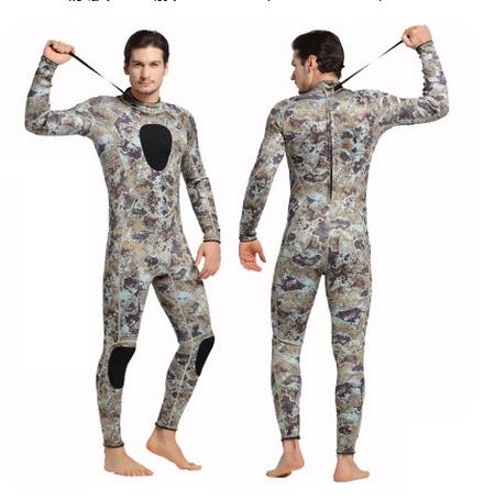 Neoprene 3mm Camo Long Sleev Wetsuit One Piece Sport Warm Athletic Diving Suit Scuba Spearfishing Full Body SwimSuit Equipment