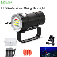 BEYLSION Professional Photography Video Diving Light white red blue light Underwater IPX8 100m Dive Flashlight Scuba Video Lamp