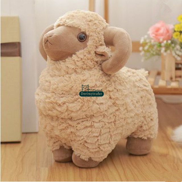 Dorimytrader Giant Animal Sheep Toy Stuffed Soft Plush Cute Goat