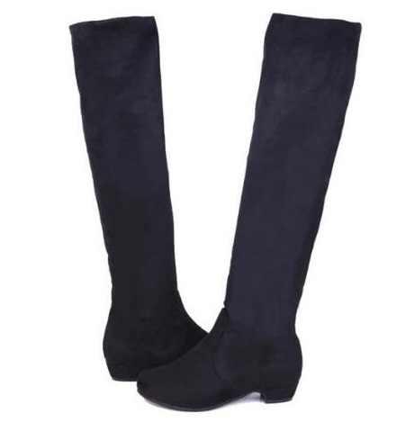 2016 брендовые Новые популярные женские сапоги; сезон осень-зима; женские модные сапоги на плоской подошве; Сапоги выше колена; замшевые высокие сапоги