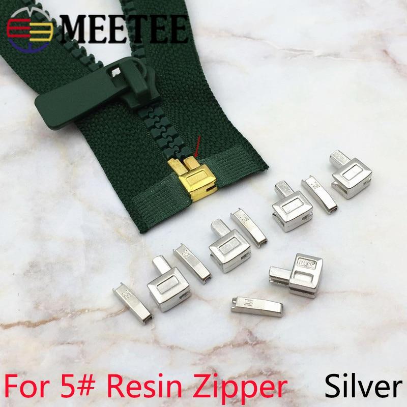 26 pièces Blanc Métal Accessoires pour curseur fermeture  manteau glissière