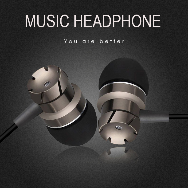 In-Ear Supper Bass Metal Ear buds Earphone Headphones Music Headset with Microphone 3.5mm jack for iPhone 6 5 Xiaomi Huawei Mp3 m400 3 5mm in ear bass earphones headphones music headset earbuds with microphone for iphone samsung xiaomi huawei htc mp3