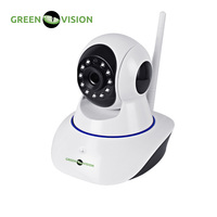 GREEN VISION Rotatable WiFi IP Cam With Microphone And SD Card For Internal Installation Resolution 1