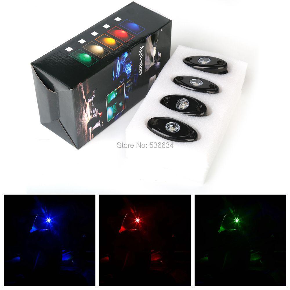 9W LED Rock Light Single with 4PCS for SUV, ATV, UTV, 4 x 4, Sand rails, Cars, Truck, Trailer, Forklift, Trains, Boat, Fire