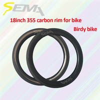 SEMA T700 18 inch 355 carbon rim 3K/UD/12K weave rims super light 235g for road bicycles folding bike best quality carbon rim