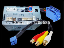 RCA Female Audio Video Input Cable for TOYOTA Headunit 6Pin Blue A V Port
