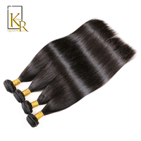 King Rosa Queen Human Hair Straight Brazilian Hair Weave Bundles Double Weft Non Remy Hair Extensions