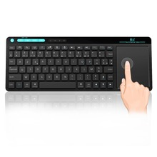 цена на Original Rii K18 Mini French Keyboard With Large Size Touchpad Air Mouse For PC,Google Smart TV,HTPC IPTV,Android Box