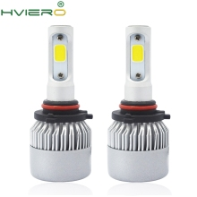 2X S2 9005 HB3 Cob All in One Headlight Ip65 WaterProof Auto Bright Bulb Single Beam 72W 8000LM 6500K Automobile Headlamp White