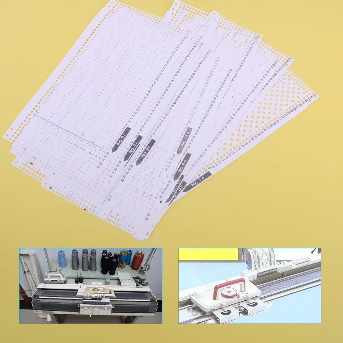 15 stücke Set Pre Gestanzt Karte Kit Fit für Brother KH260 Stricken Hand Maschine image