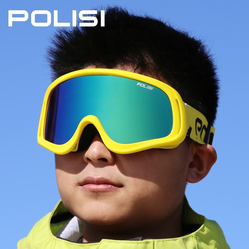 Prix pour Polisi professionnel miroir de ski grand angle randonnée coupe - vent lunettes jour et nuit lunettes de ski